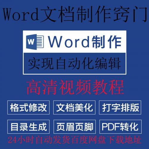 Microsoft Word文档制作窍门排版格式修改设计图文字录入表格文献PDF转翻译