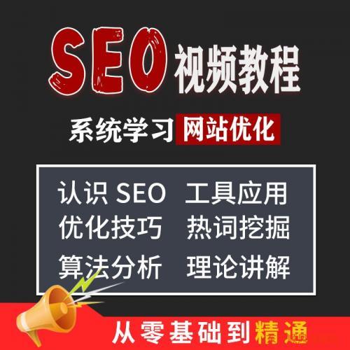 seo优化教程 零基础网站关键词排名全套视频教学入门培训机构课