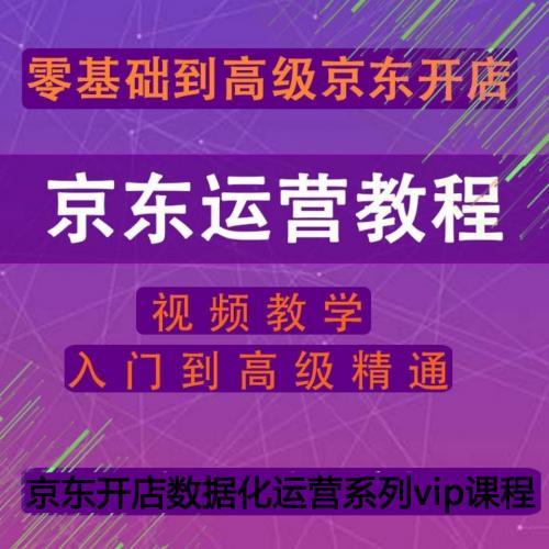 2021京东运营视频教程新手到高级京东开店全套平台快车推广电商培训课程